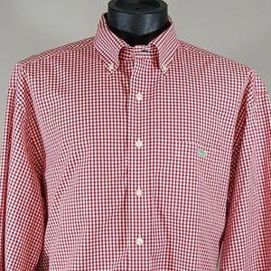 Vineyard Vines Tucker Shirt XL Red Gingham Check